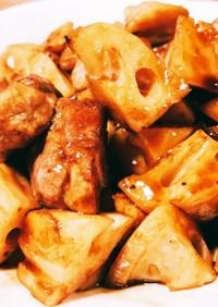 豚肉とれんこんの黒酢炒め