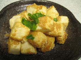 簡単♪豆腐のサイコロステーキ