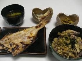 贅沢!赤飯丼(画像右下)