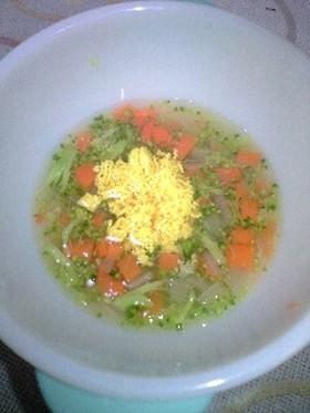 離乳食・中期■卵黄と野菜スープ