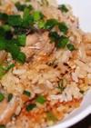 鯖と焦がし大根の炊込ご飯@さば水煮缶詰