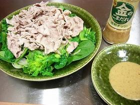 菜の花と豚肉のサラダ
