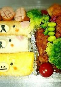 キャラ弁 くま ひよこ サンドイッチ