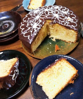 超簡単♡ハロウィン生チョコケーキ