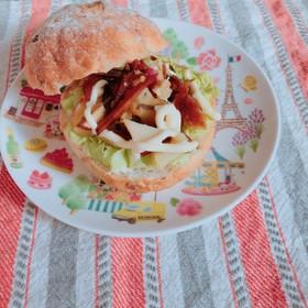 生姜こんぶ入りさつま芋&りんごサンドパン