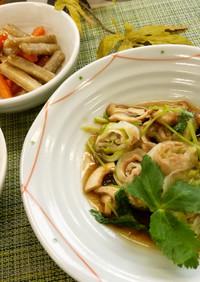 豚肉と白菜の蒸しあんかけ(腎臓病食)