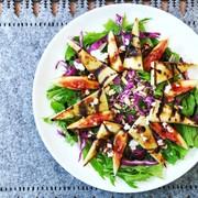 高野豆腐と無花果のサラダの写真