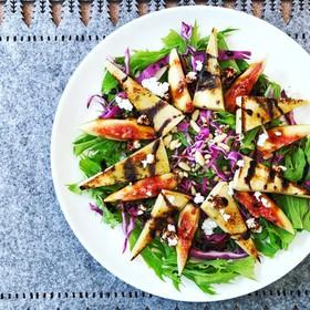 高野豆腐と無花果のサラダ