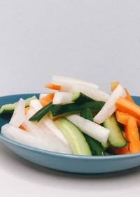 野菜スティックの甘酢サラダ