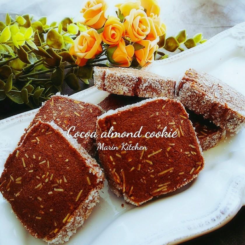 ココアのアーモンドシュガークッキー♡