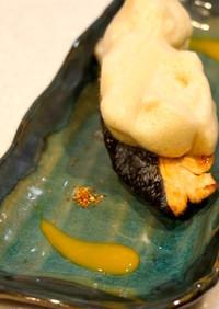 減塩☆腎臓内科医考案メレンゲ泡醤油の焼鮭