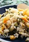 野沢菜とかつお節の香ばしチャーハン