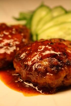 フライパンで煮込みハンバーグ☆BBQ味