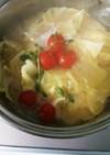 冬定番トマトが優しい味噌汁