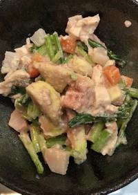 蕪とイチジクの胡桃ドレッシングサラダ