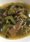 小松菜と鯖缶のスープ