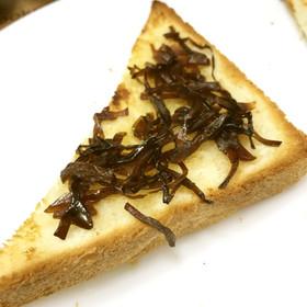 ふじっ子煮の生姜昆布でハニートースト
