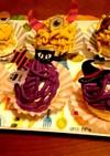 かぼちゃと紫芋の簡単モンブラン