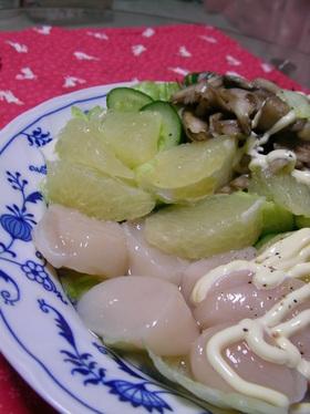 【男の料理】ホタテのグレフルカルパッチョ