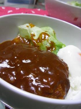 【男の料理】オレのデミ☆ロコモコ丼