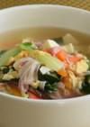 野菜たっぷりかにかまスープ