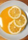 オレンジゼリーと二層のレアチーズケーキ♡