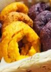 カボチャと紫芋のピカロネス(ドーナツ)