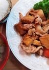 厚揚げと玉葱と豚の生姜焼き