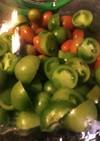 青いトマトのピクルス