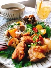 鶏肉と蓮根の黒酢煮(動画有)の写真