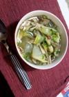 舞茸とサラダチキンのダイエットスープ