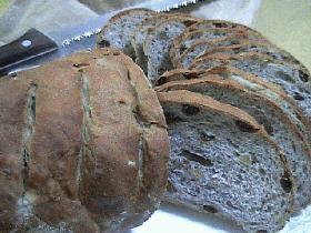 レッスン2~ライ麦パンは最初は軽めに~胡桃と白干ぶどうのライ麦パン(ライ麦全粒粉28%)