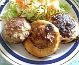 野菜の肉詰め焼