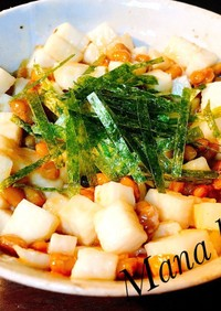 【簡単】長芋と納豆のねばねばタッグ和え♡