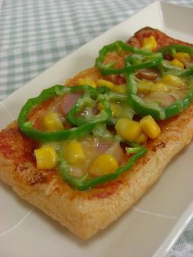 カリカリッ♪油揚げピザ