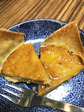 完熟柿のアーモンドクリーム春巻タルト