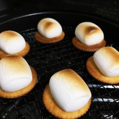 オーブントースターで焼きマシュマロ☆