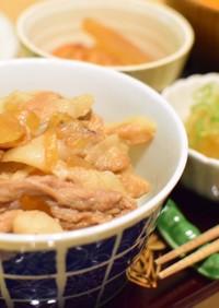 すき家?!おろしポン酢豚丼♪