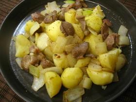 砂肝と玉葱の胡椒炒め