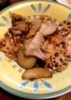 豚肉とレンコンとさつまいもの甘辛炒め