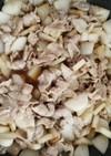 すき焼きのタレで豚バラ大根