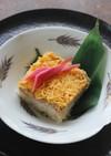 ツナと油揚げのそぼろで押し寿司