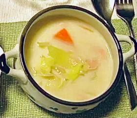 あっさり野菜のミルクスープ