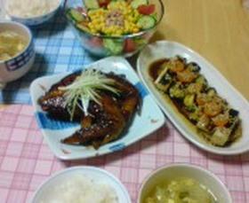 中華3品(手羽先、中華スープ、葱マリネ)