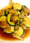 牡蠣とズッキーニのカンタン黒酢マリネ