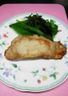 今日の夕飯 カリカリほっこりロース肉
