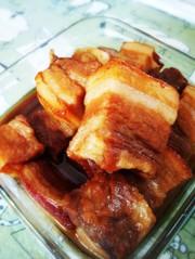 簡単に豚の角煮の写真