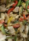 パプリカと鶏の炒め物
