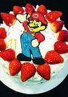 スーパーマリオのお誕生日ケーキ♥