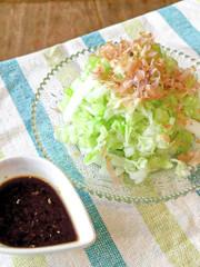 レタサイ*簡単シンプル*生姜醤油サラダの写真